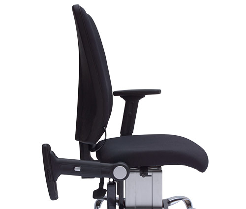 eLift400-R powered office chair with fold back arms option