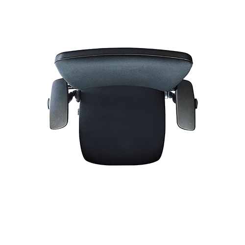 the e_Lift400-R motorised desk chair, being shown rotating through 180 degrees