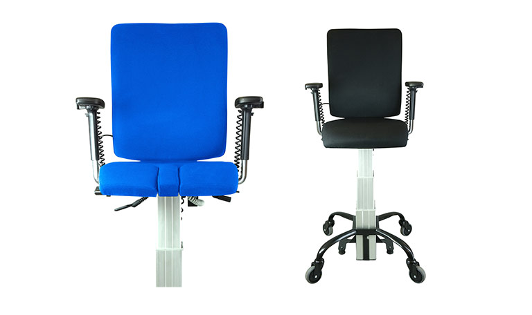 two versions of the SitAbility eLift400-R powered office chair